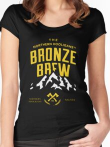 THE BRONZE BREW CREWNECK Women's Fitted Scoop T-Shirt