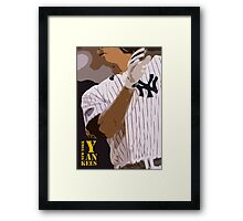 Baseball, New York Yankees, and bat Framed Print