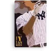 Baseball, New York Yankees, and bat Canvas Print