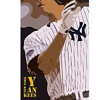 Baseball, New York Yankees, and bat Photographic Print