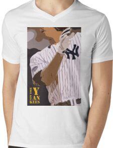 Baseball, New York Yankees, and bat Mens V-Neck T-Shirt