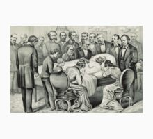 Death of General James A. Garfield - 1881 - Currier & Ives Kids Tee