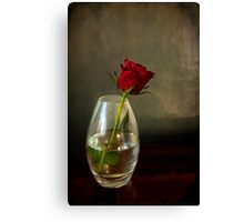 Mother's day, rose in glass Canvas Print