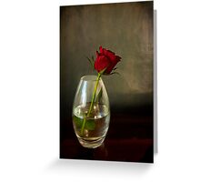 Mother's day, rose in glass Greeting Card