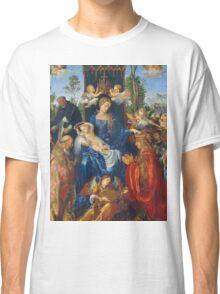 Albrecht Durer  - Feast of Rose Garlands 1506 Woman Portrait Fashion Classic T-Shirt