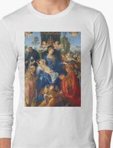 Albrecht Durer  - Feast of Rose Garlands 1506 Woman Portrait Fashion Long Sleeve T-Shirt