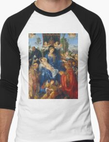 Albrecht Durer  - Feast of Rose Garlands 1506 Woman Portrait Fashion Men's Baseball ¾ T-Shirt