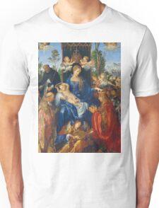 Albrecht Durer  - Feast of Rose Garlands 1506 Woman Portrait Fashion Unisex T-Shirt