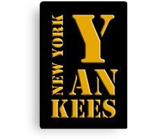 New York Yankees typography Canvas Print