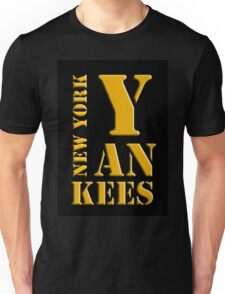 New York Yankees typography Unisex T-Shirt