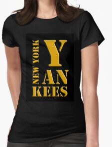 New York Yankees typography Womens Fitted T-Shirt