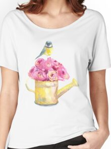 a bouquet of roses and bird  Women's Relaxed Fit T-Shirt