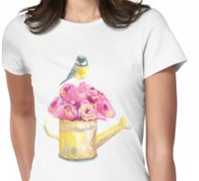 a bouquet of roses and bird  Womens Fitted T-Shirt