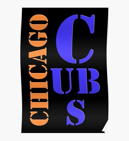 Chicago Cubs Typography Poster