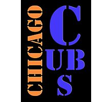 Chicago Cubs Typography Photographic Print