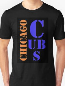 Chicago Cubs Typography T-Shirt