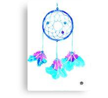 Dreamcatcher in indigo shades Canvas Print