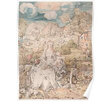Albrecht Durer  - Mary among a Multitude of Animals,  1503 Woman Portrait Fashion Poster