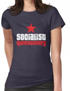 Socialist Revolutionary Red Star Womens Fitted T-Shirt