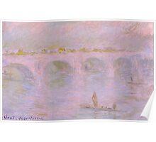 1902-Claude Monet-Waterloo Bridge in London-65 x 100 Poster