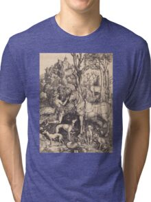 Albrecht Durer  - Saint Eustace  1500-1501 Portrait Fashion Tri-blend T-Shirt