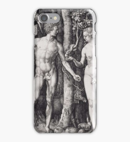 Albrecht Durer  - The Fall of Man Adam and Eve 1504  Love Kiss  iPhone Case/Skin