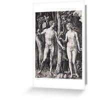 Albrecht Durer  - The Fall of Man Adam and Eve 1504  Love Kiss  Greeting Card