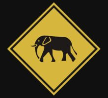 Beware of Elephants, Road Sign, Malaysia Baby Tee