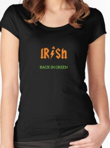 Irish Back In Green ACDC Inspired Women's Fitted Scoop T-Shirt
