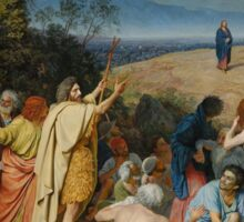 Aleksander Ivanov I - The Apparition of Christ to the People The Apparition of the Messiah 1837 - 1857 Sticker