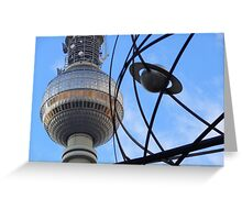 Berlin TV Tower with World Time Clock , Alex Greeting Card