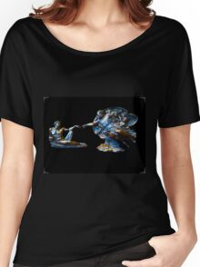 Creation Of Man In Sorrento Women's Relaxed Fit T-Shirt