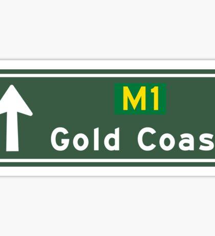 Gold Coast, Road Sign, Australia Sticker
