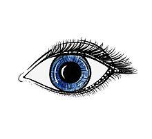 Deep Blue Eye Photographic Print