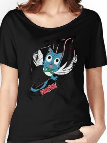 Fairy Tail (Happy), Anime Women's Relaxed Fit T-Shirt