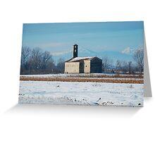 Rural Friulian Church Greeting Card