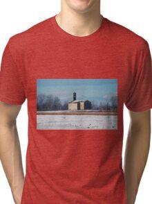 Rural Friulian Church Tri-blend T-Shirt