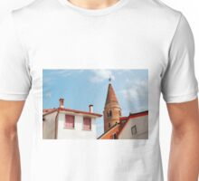 Caorle Belltower and Foreground Buildings Unisex T-Shirt