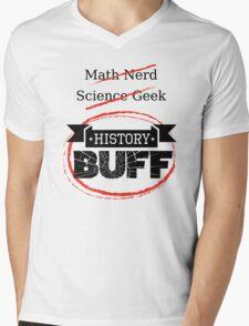 History BUFF Mens V-Neck T-Shirt