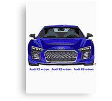 Audi 2015 R8 e-tron Pen and Ink Sketch Canvas Print