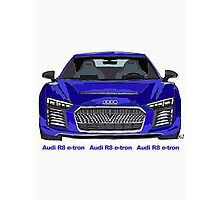 Audi 2015 R8 e-tron Pen and Ink Sketch Photographic Print