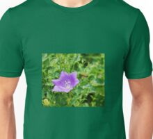 Campanula Carpatica with Bee Unisex T-Shirt