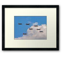 Team Orlik 7-ship arrow formation Framed Print