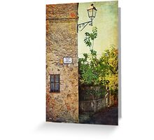 Tuscany rural landscape Greeting Card
