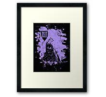 Walther von der Vogelweide - violet bleached Framed Print