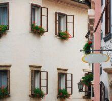 Historic Street in Skofja Loka 1 Sticker
