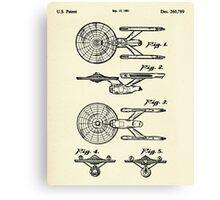 Starship Enterprise Star Trek-1981 Canvas Print