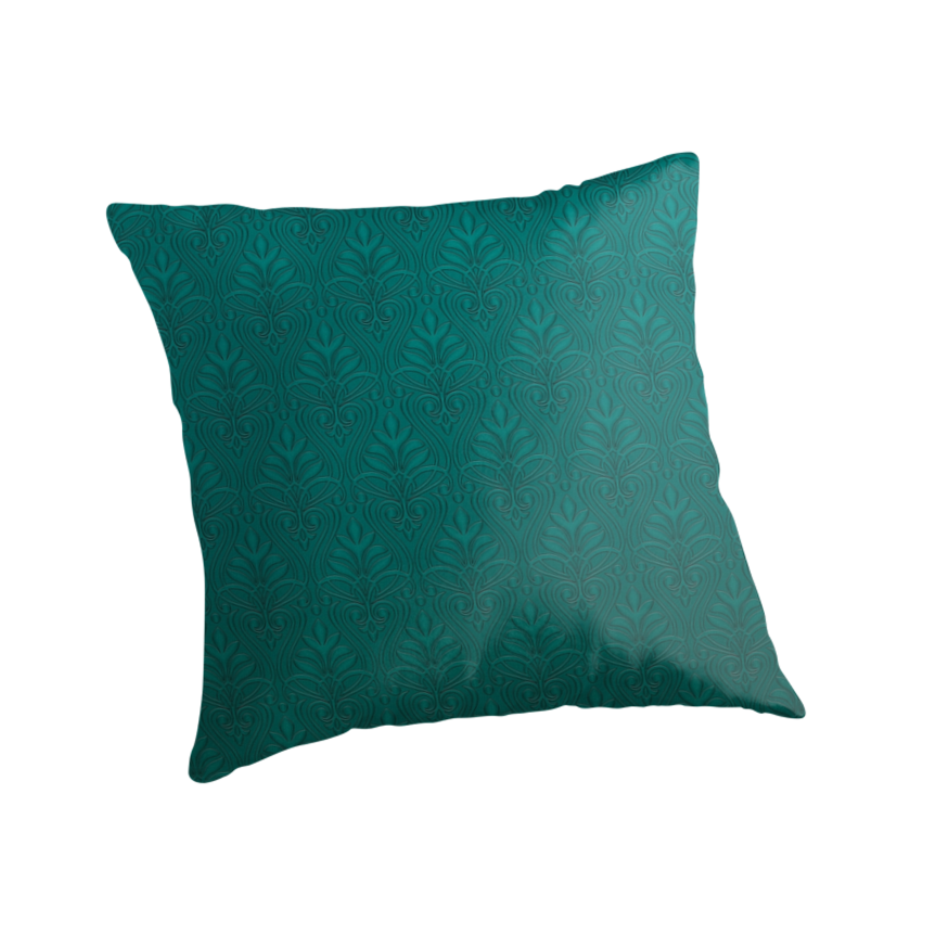 """Turquoise dreamy"" Throw Pillows by makemetee"