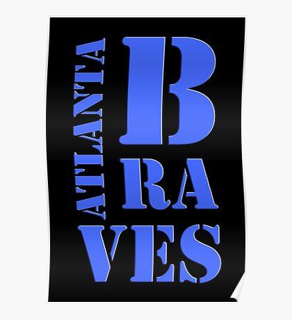 Atlanta Braves Typography Poster