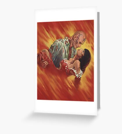 Romantic Zombies Greeting Card